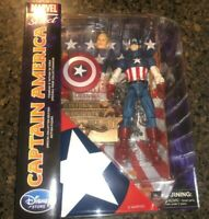 "Marvel Select Captain America exclusive action figure 7"" Disney Liberty base"