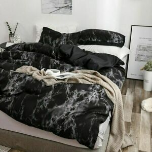Marbling Bed Set Skin-Friendly Bedclothes Double Side Quilt Cover And Pillowcase