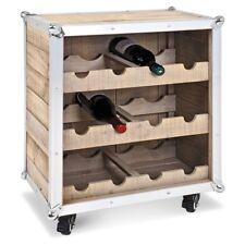 "Haku ""Bottle Box"" Solid Wood Wine Bottle Storage. Flight Case Style. Cellar"