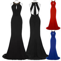 Mermaid Floor-Length Pleated Formal Prom Cocktail Party Ball Gown Evening Dress