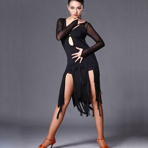 L115 Latein kleid Turnierkleid Tanzkleid Fransenkleid