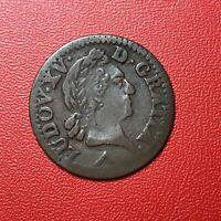 #1505 - RARE - Louis XV Liard 1773 W Lille - FACTURE