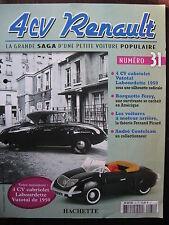 FASCICULE 31 RENAULT 4CV  CABRIOLET VUTOTAL LABOURDETTE DE 1950