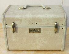 Vintage SAMSONITE Streamlite MAKEUP TRAIN CASE Suitcase MARBLE TAN