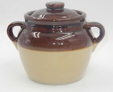 BEAUTIFUL TWO HANDLED BEAN POT w/ LID ~ MADE IN THE USA