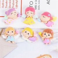 20 pcs Assorted Flatback Resin Angel Girls Craft 2-3cm Hair Bow Making Decors