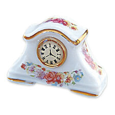 Reutter Porzellan Uhr / Floral Mantle Clock Clock Puppenstube 1:12 Art 1.464/8