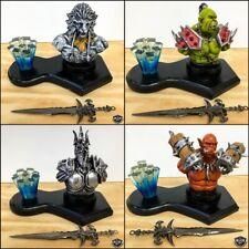 World Of Warcraft Desk Toy Mini Figure w/ Sword Orc Lich King Demon Lion New