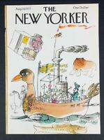 COVER ONLY ~ The New Yorker Magazine, August 29, 1977 ~ Joseph Low