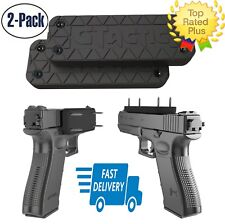 2 Magnetic Gun Pistol Mount Concealed Holster Car Home Firearm Accessory Holder