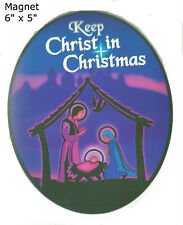 Keep Christ in Christmas Magnet for the Car- Spread the Word! Deep Regal Colors!