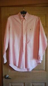 RALPH LAUREN Men's Yarmouth 100% cotton Oxford Dress Shirt Size 15 1/2 - 34