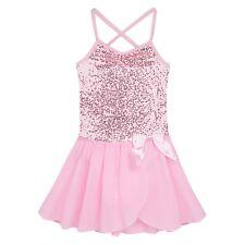Girls Ballet Dancer Leotard Chiffon Tutu Skirt Dress Dancewear Outfit Costume