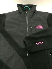 Women's NORTH FACE Black Denali Breast Cancer PINK RIBBON Jacket Sweater Small
