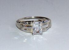 Ogc Korea Sterling Silver 925 Sparkling Cz Cubic Zirconia Ring Size 5 Y4