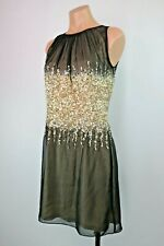 M60 Miss Sixty Sequin Dress Rose Gold Nude Black Size 4 Evening Prom Party Dress