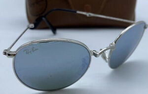 ray ban sunglasses Round Folding Silver Frames RB 3532 Made In Italy RRP $235