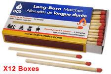 UCO Stormproof 1 min Long Burn Matches 50pcs X12 Boxes = 600pcs