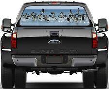 Geese Painting Rear Window Graphic Decal  Truck Van Car