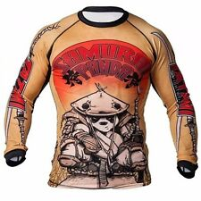 Samurai Panda Fightwear breathable workout fierce Long Sleeve Rashguard