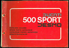 ORIGINAL Supplément Catalogue pièces DUCATI 500 SPORT DESMO Parts List Katalog