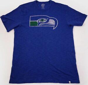 Seattle Seahawks '47 Brand t-shirt Large Blue Distressed Blitz Boom Gulls Maven