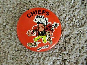"Vintage Kansas City Chiefs Pinback Button NFL Collectible pre 1980 2.25"" - rare"