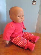 "baby doll clothes 3 piece dark pink pajamas fits 20-22"" dolls"
