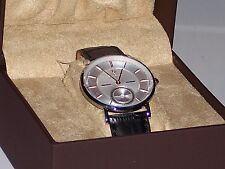 Lucien Piccard Taverna Genuine Leather Watch 40003-02S-RGA