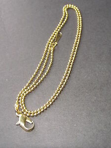 UK JEWELLERY GOLD 1MM BALL BEAD NECKLACE PENDANT CHAIN 17 INCH APPROX