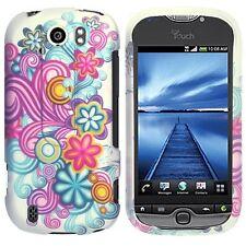 Purple Blue Flower Case Cover T-Mobile myTouch 4G Slide
