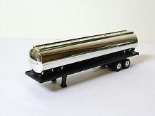 """ERTL Tanker Semi Trailer Black & Chrome 6-1/2"""" Long NEW"""