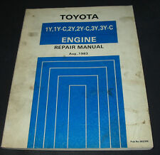 Repair Manual Motor Toyota Crown Hiace Liteace Hilux Model-F Engine 08/1983
