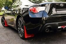 Rally Armor 2012+ Subaru BRZ / Scion FR-S UR RED Mud Flaps Kit w/ WHITE Logo
