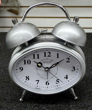 ALARM CLOCK- DOUBLE BELL BATTERY OPERATED CHROME FINISH