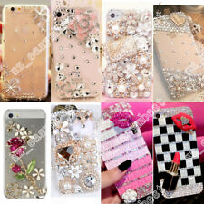 Transparent Bling Crystal Beads Rhinestone Soft Case Cover For Samsung iPhone