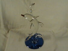 Glass Baron Mother & Baby Dolphin Blue Rhinestone Eyes  # 57 229,  .2002