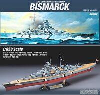 Academy 1/350 German Pocket BattleShip Bismarck Plastic Model kit  #14109