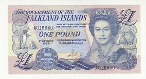 Falkland Islands 1 pound 1984 AUNC- QEII @ low start
