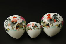 Large Porcelain Bird Feeders Bowls Cups for Chinese Bamboo Bird Cage Rooster