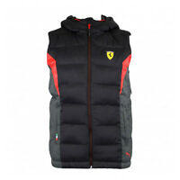 Puma Ferrari SF Padded Gilet Bodywarmer Childrens Kids Red Black 761680 01  02 P0 f9b4a73d6