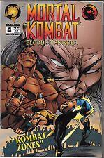 MORTAL KOMBAT BLOOD & THUNDER #4 (VF/NM) MALIBU COMICS