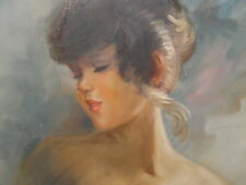 Oil Painting On Canvas - Woman Portrait - Williams - 1 Tear