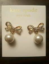 Bow Pearl Drop Kate Spade New York Stud Earrings New!