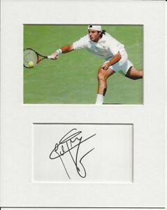 Sebastien Grosjean tennis signed genuine authentic autograph signature AFTAL COA