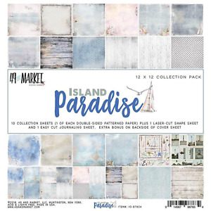 Travel Island Paradise Collection Pack 12x12 Paper Crafting 49 And Market New