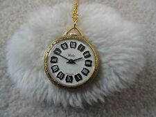 Necklace Pendant Watch - Not Working Swiss Made Leda Wind Up Vintage