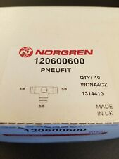 """New listing Norgren Pneufit Union Tee (120600600) - 3/8"""" Od Tube - New, Opened Box"""