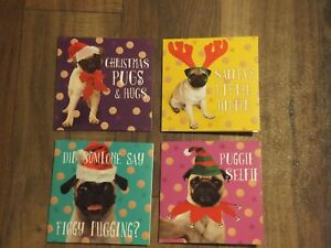 294: GC-54 * Pugs Christmas Small Cards pack of 10