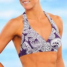 ATHLETA Siren Petunia Purple Bikini Top Size 42 D/ 40 DD XL 16 New Retail $56